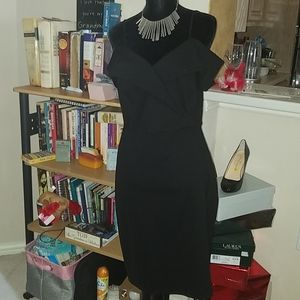 NWT! Black OTS Stretch Dress